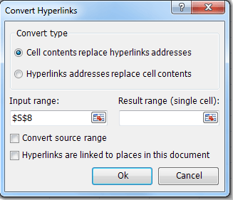 Quickly extract url links from hyperlinks or to convert