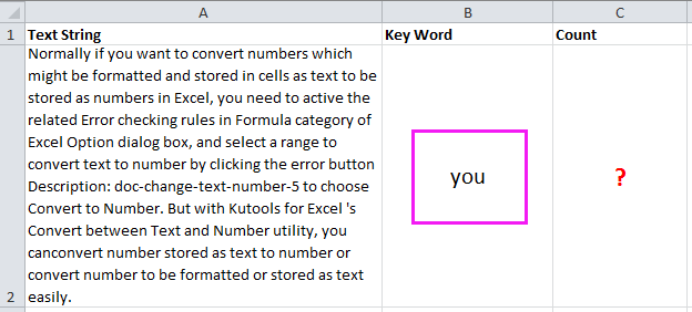 shot count times a word appears 3