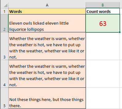 doc count times a word appears 8