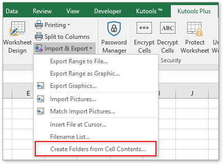 shot create folder by cell contents 1