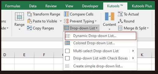 shot create dynamic drop down list 1