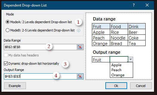 shot create dynamic drop down list 2