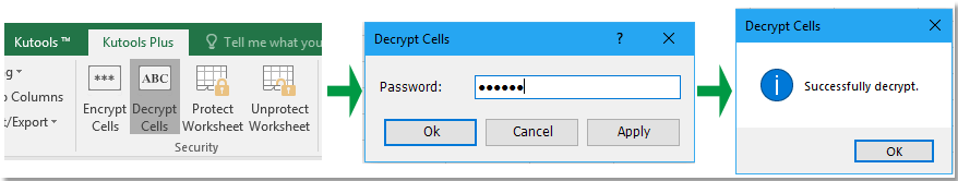 Easily encrypt and decrypt selected cell values or contents in Excel
