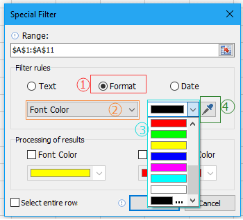doc filter by font color 5
