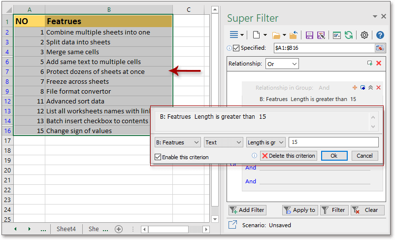 shot super filter data 4