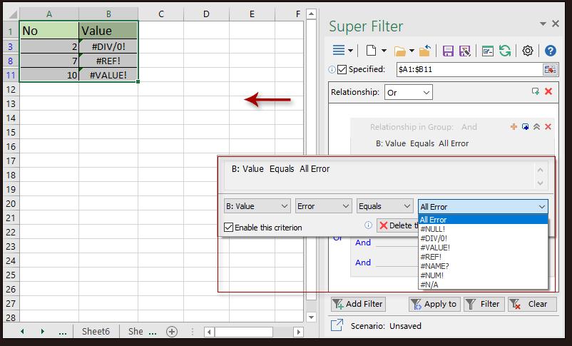 süper filtre verileri 6 vurdu