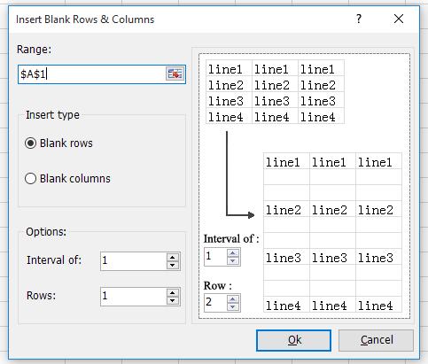 inseriu inserir files en blanc en 2