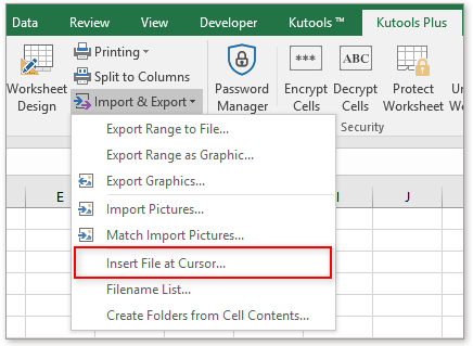 shot insert file at cursor 1
