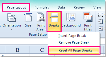 shot insert page break every row 4
