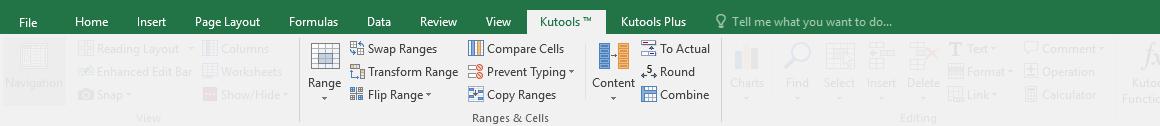 groupe de cellules de gammes de tir kutools