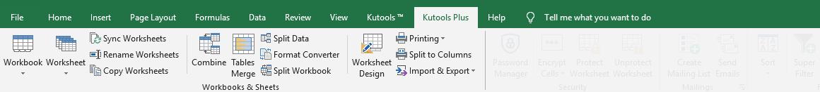 拍摄kutools plus工作簿工作表组