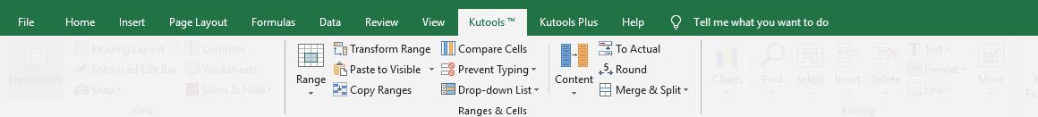 shot kutools varia il gruppo di cellule