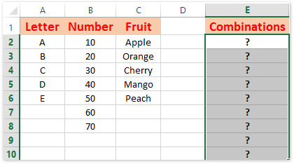 Quickly generate/list all possible combinations of certain