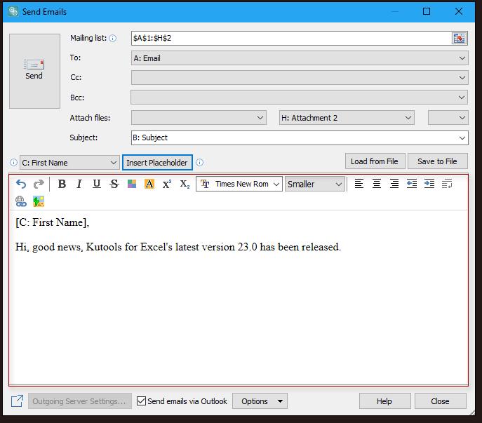 lövés küldjön e-maileket