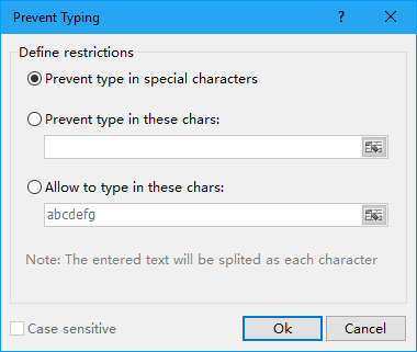 shot prevent special characters typing 2