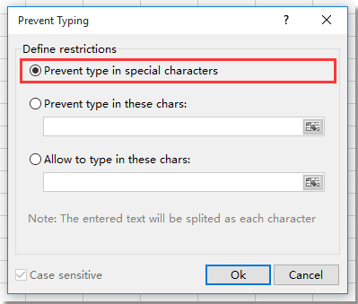 shot prevent special characters typing 4