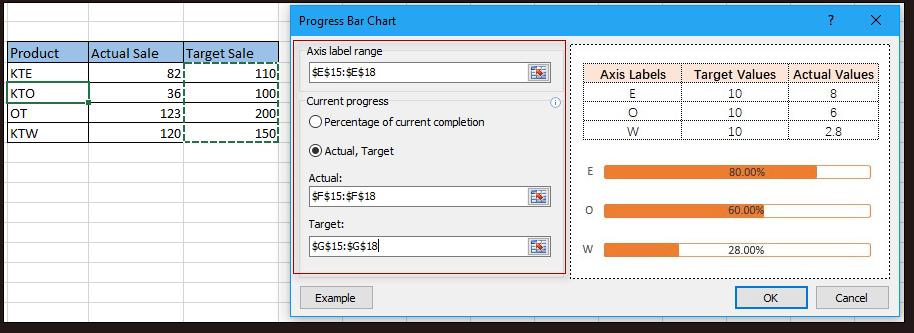 shot progress bar chart 4