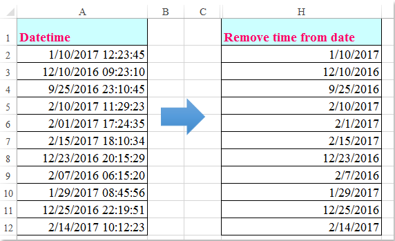 shot remove time from date 1