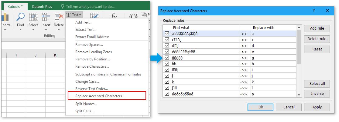 opname vervangt geaccentueerde tekens 1