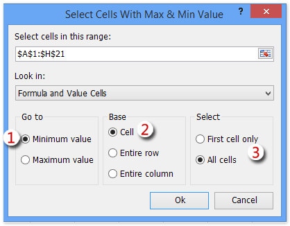 shot select max min values ​​3