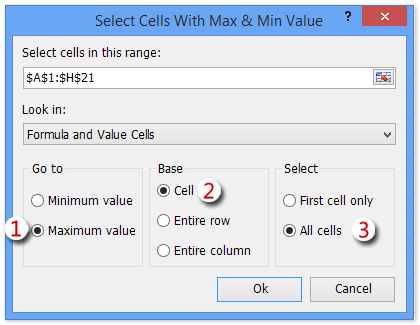 shot select max min values 6