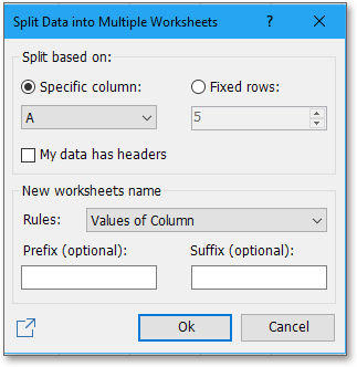 shot split data into worksheets 1