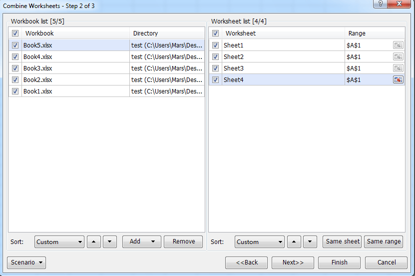Quickly summarize / calculate data from multiple worksheets