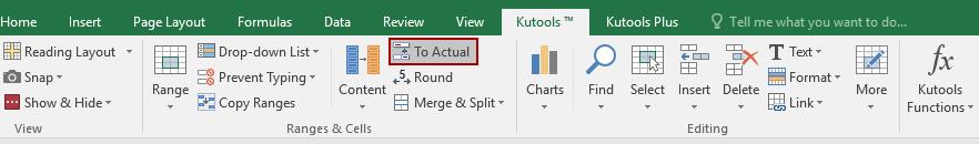 shot display actual values 1