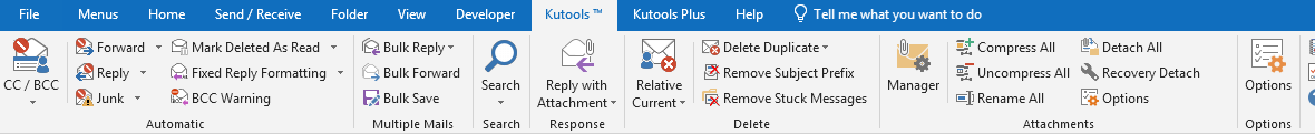 выстрел kutools Outlook Outlook вкладка kutools