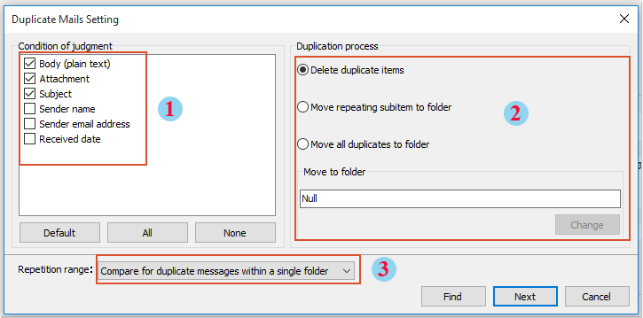 شات حذف ایمیل های تکراری 3