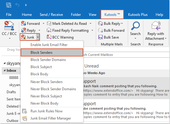 shot block emails by sender 1