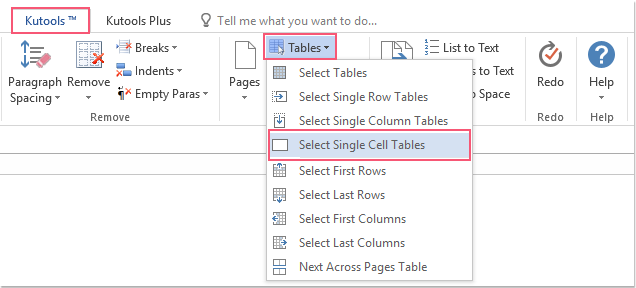 shot select all single cell tables 01