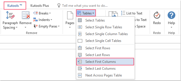 shot select all first columns of tables 01