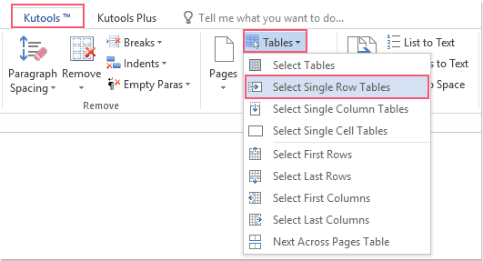 shot select all single row tables 01