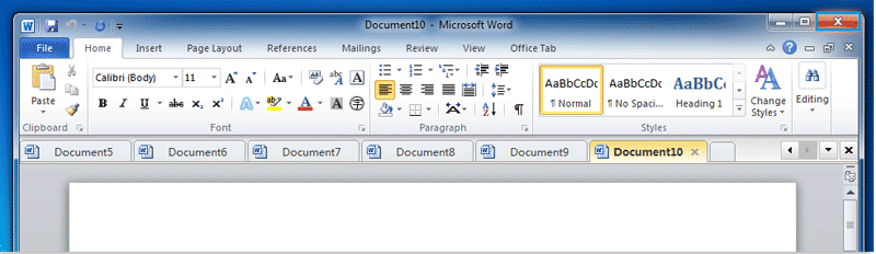 Office Tab: How to close all documents at once?