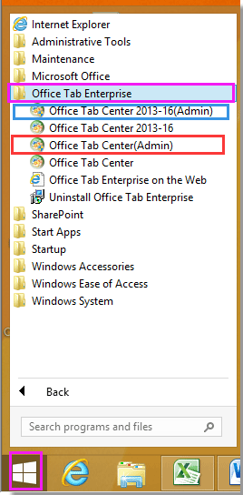 office tab for office 2013