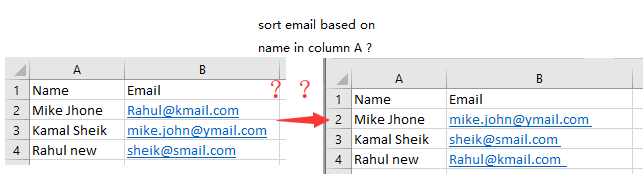 How to add the same email address to a list of names in Excel?