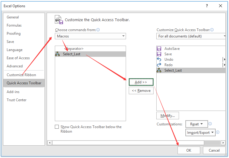 How to go back to previous/last sheet with shortcut in Excel?